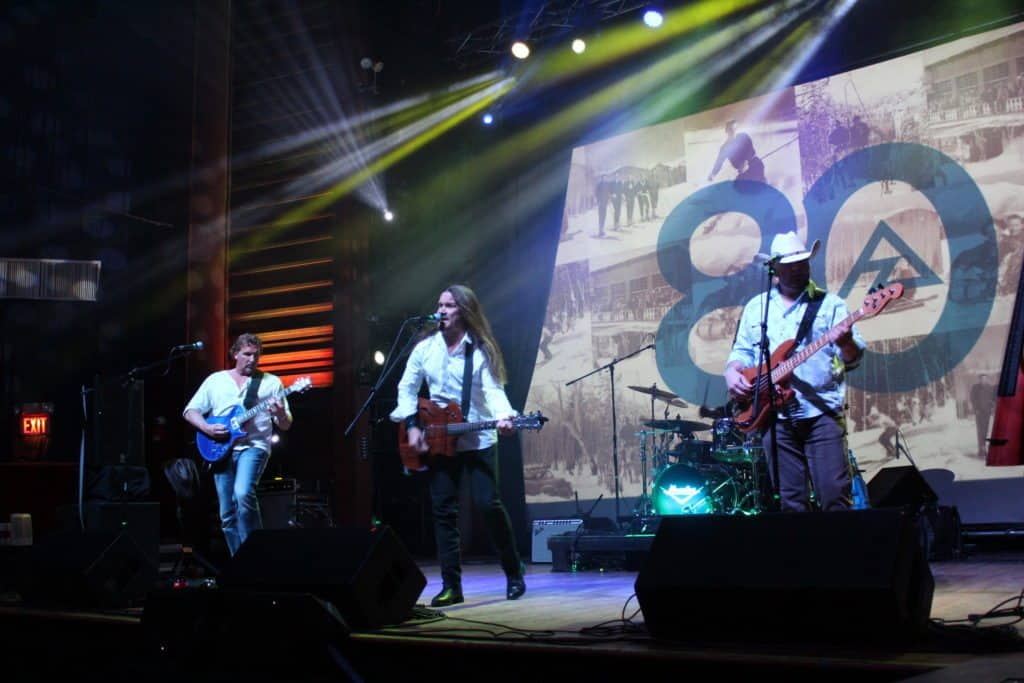 Mogollon played the stage at the Orpheum Theater during Saturday night's festivities.