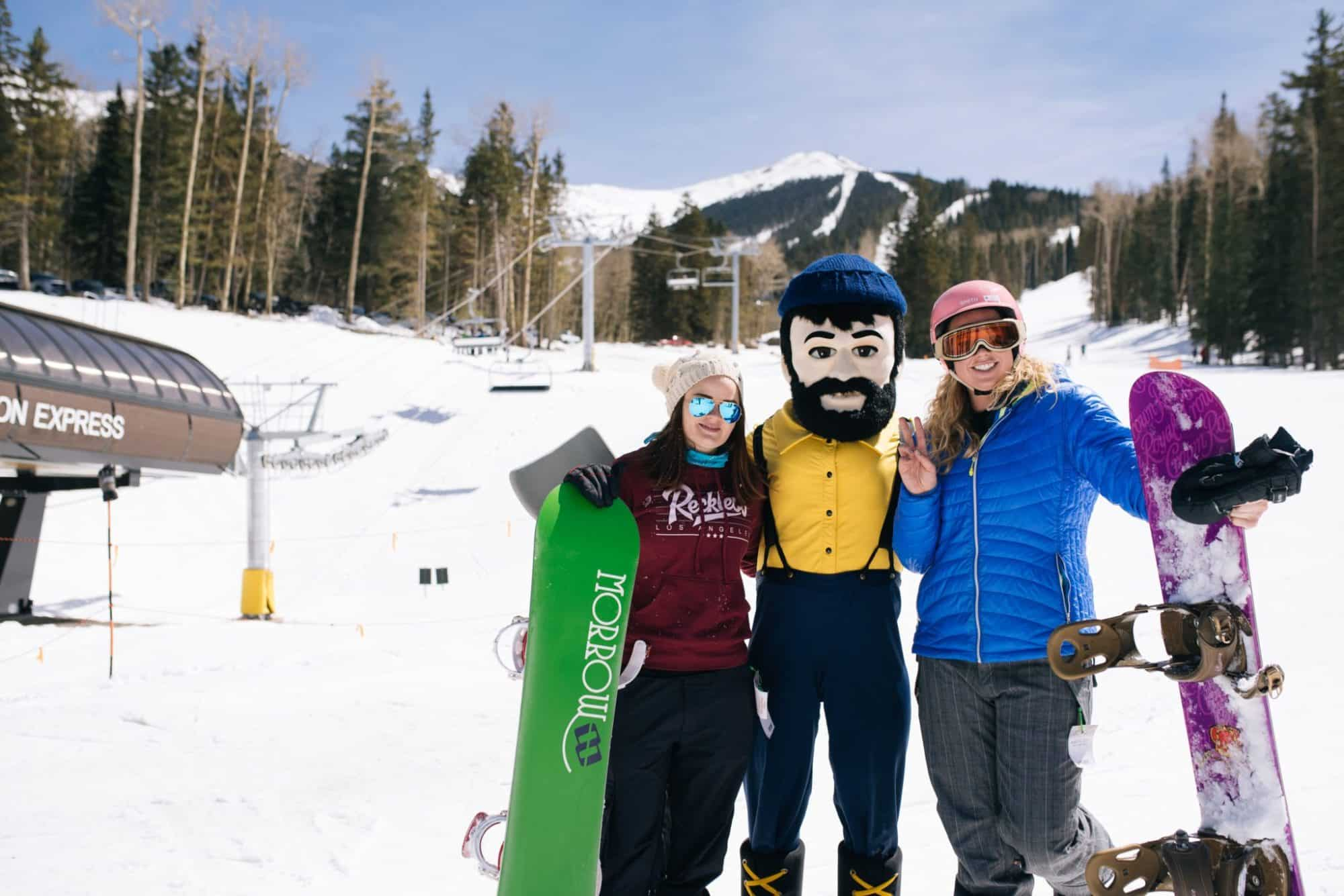Louie the Lumberjack visit the slopes