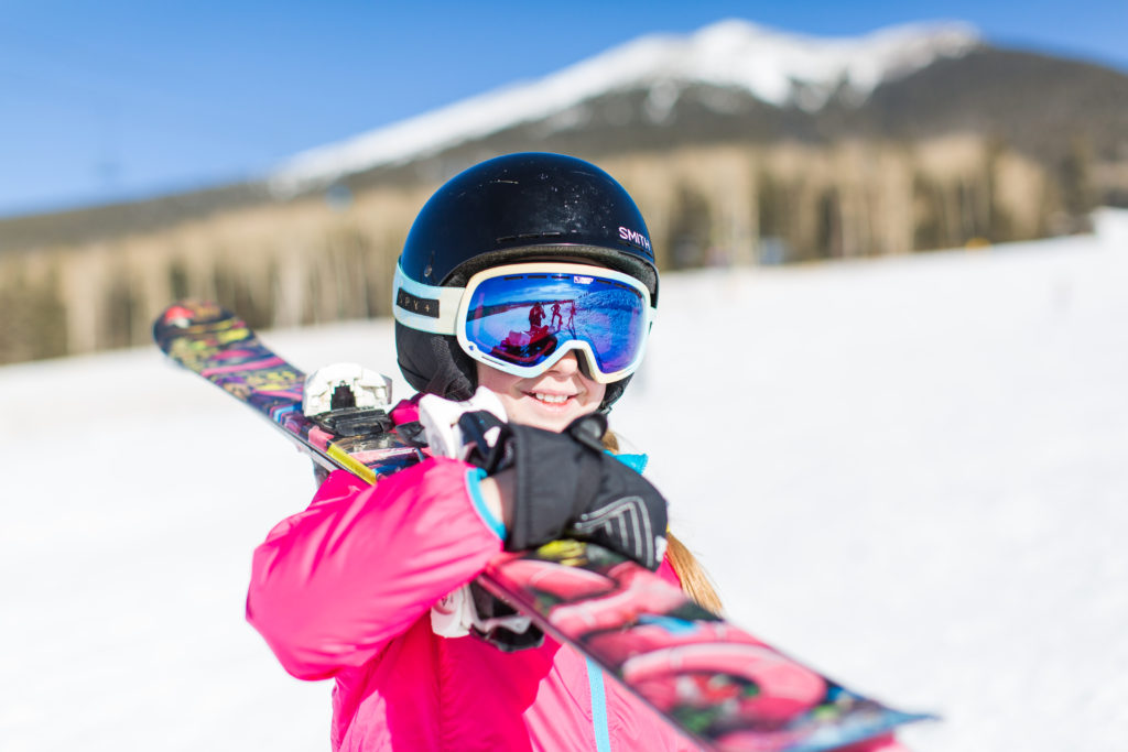 Smiling girl at Arizona Snowbowl